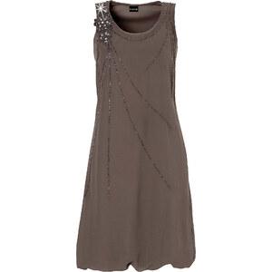 BODYFLIRT Kleid figurumspielend in grau (Rundhals) von bonprix