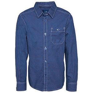 TOM TAILOR boys - allover dots print shirt Hemd mit Polka Dots für Jungen (gepunktet, langärmliges Hemd mit Kentkragen und Knopfleiste) aus 100 % Baumwolle, farb