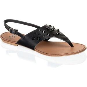 Glattleder-Sandale Gamloong schwarz