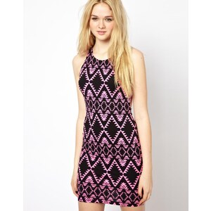 Motel Aztec Print Bodycon Dress