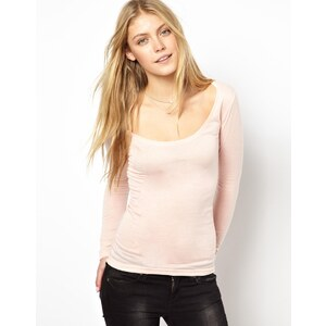 ASOS Top with Long Sleeves and Scoop Neck