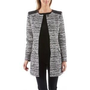 manteau femme blanc et noir femme manteau automne hiver. Black Bedroom Furniture Sets. Home Design Ideas