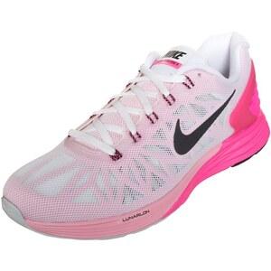 Nike Performance LUNARGLIDE 6 Laufschuh Stabilität white/black/pink pow/space pink