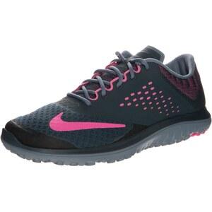 Nike Performance FS LITE RUN 2 Laufschuh Leichtigkeit classic charcoal/pink pow/blue graphite