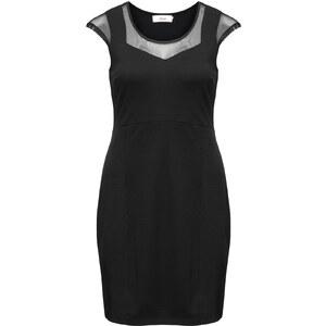 Zizzi Kleid mit Netzstoff-Einsätzen