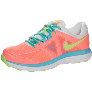 Nike Performance DUAL FUSION LITE 2 Laufschuh Dämpfung lava glow/flash lime/white