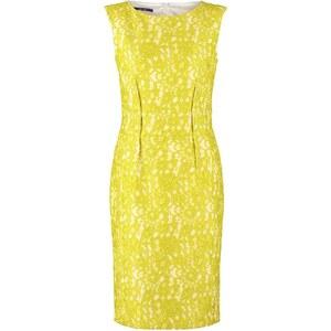 Laurel Etuikleid yellow/weiss