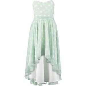 Swing Cocktailkleid / festliches Kleid weißgrün/cremeweiß