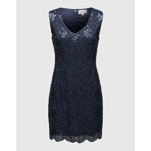 LACE & BEADS Abendkleid mit Schmucksteinen ´Abria´ Damen blau