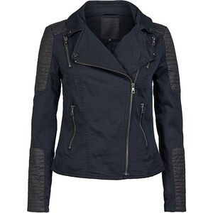 Only Canvas Biker Jacke, Blue Graphite