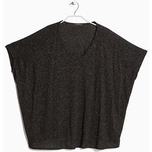 VIOLETA T-Shirt mit Metallic-Garn