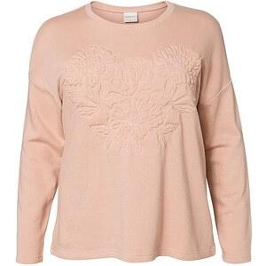 JUNAROSE 3D-Effektdetail Sweatshirt, Mahogany Rose