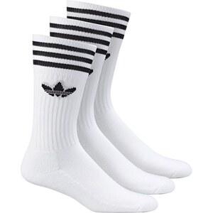Adidas Originals Adidas Socken Dreierpack - SOLID CREW SOCK - White-Black Size 43/46