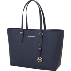 Michael Kors Jet Set Travel Medium Tote aus Saffiano Leder Shopper mit Reißverschluß
