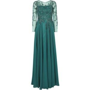 Jora Collection Abendkleid aus Tüll mit Pailletten und Ziersteinen
