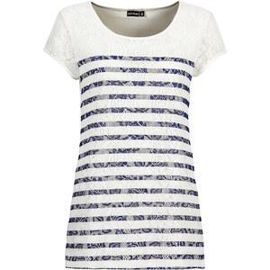 BODYFLIRT Spitzenshirt in weiß für Damen von bonprix