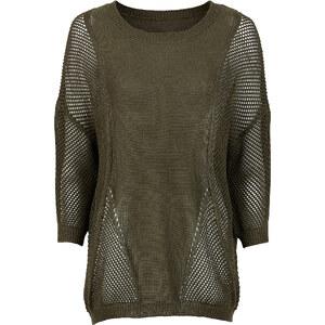 BODYFLIRT Pullover in grün (Rundhals) für Damen von bonprix