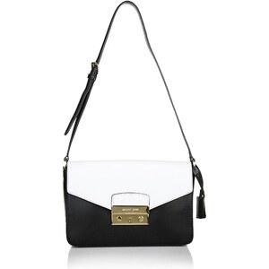MICHAEL Michael Kors Haley MD NS Shoulder Bag Black/Optic White Handtaschen
