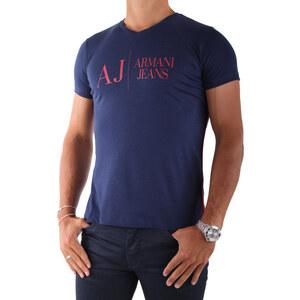 Armani jeans T-shirt V6H28 Col V Bleu Mar