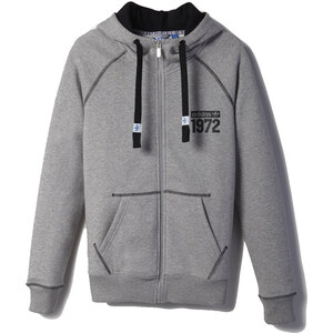adidas Gilet Veste zippée capuche Super Fleece Logo Zip
