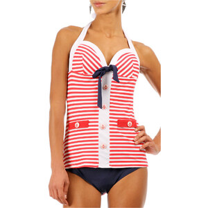 Banned Maillots de bain Maillot ASTRAY rouge/blanc