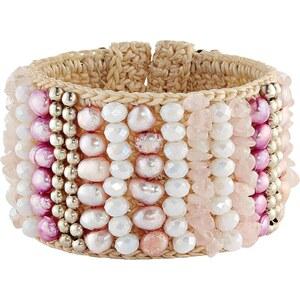ANANDA Armspange, flexibel, Perlen-Bestickung