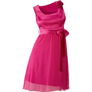 BODYFLIRT Kleid ohne Ärmel in rot (Rundhals) von bonprix