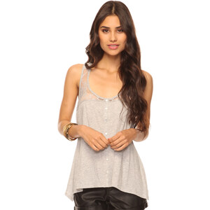 FOREVER21 Tank-Top mit Spitze