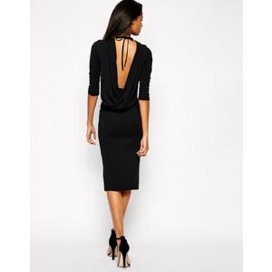 ASOS - Figurbetontes Kleid mit verdrehtem Wasserfalldesign am Rücken