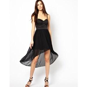 Rare – Kleid mit asymmetrischem Saum und nietenbesetzten Trägern