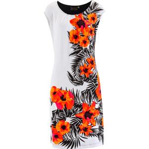 bpc selection Shirtkleid mit Druck/Sommerkleid kurzer Arm in pink von bonprix