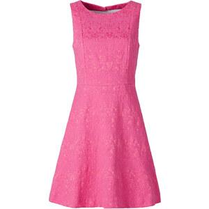 BODYFLIRT Jacquard-Kleid in pink von bonprix