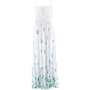 bpc bonprix collection Maxi-Jerseykleid ohne Ärmel in weiß von bonprix