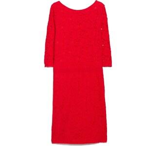 Violeta BY MANGO Enges Kleid Aus Seidenspitze