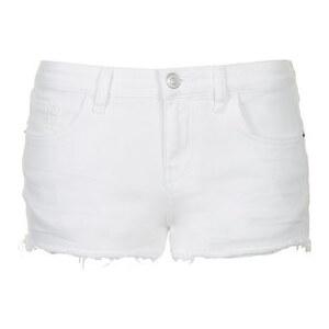 Topshop Weiße MOTO Shorts mit Gänseblümchen-Print
