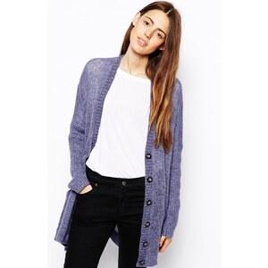 ASOS - Oversized-Strickjacke in Mohairmischung mit Taschen - Violett