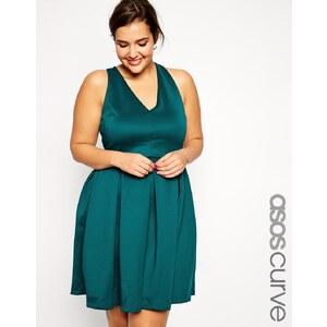 ASOS CURVE - Skaterkleid mit Schleife hinten - Smaragdgrün