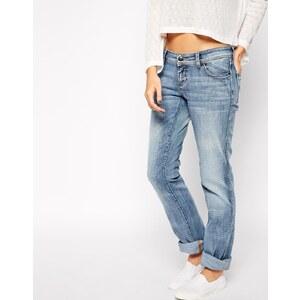 Only - Gerade Jeans mit niedrigem Bund - Jeansblau