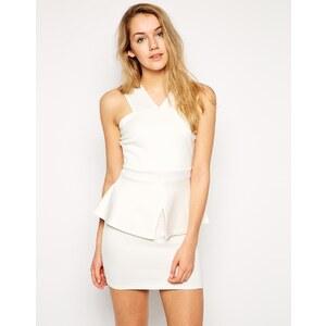 Daisy Street - Figurbetontes Kleid mit Schößchen - Weiß