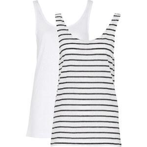 RAINBOW Shirttop, Doppelpack ohne Ärmel in weiß für Damen von bonprix