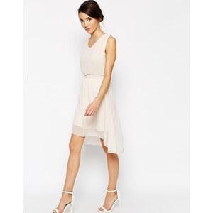 Pussycat London - Kleid mit elastischer Taille - Beige