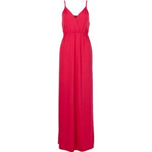 BODYFLIRT Maxi-Kleid ohne Ärmel in pink (V-Ausschnitt) von bonprix
