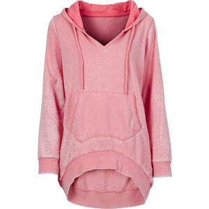 RAINBOW Oversize Sweatshirt langarm in rosa für Damen von bonprix