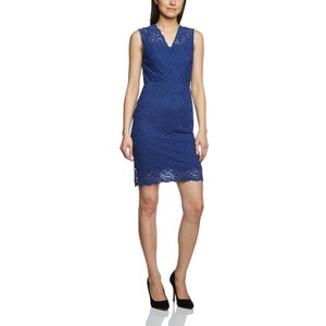 ICHI Damen Wickel Kleid X JUNE DR Blue Depths