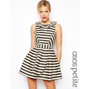 ASOS PETITE Exclusive Striped Skater Dress
