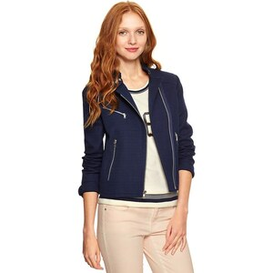 Gap Tweed Moto Jacket - Navy