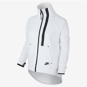 Nike Tech Fleece Moto Cape - Manteau/blouson/Impermeable - blanc