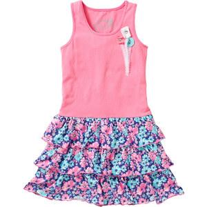 bpc bonprix collection Kleid mit Volants ohne Ärmel in rosa von bonprix