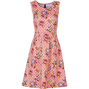 BODYFLIRT boutique Kleid in Scubaoptik Angela ohne Ärmel in pink von bonprix