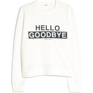 MANGO Baumwoll-Sweatshirt Mit Schrift